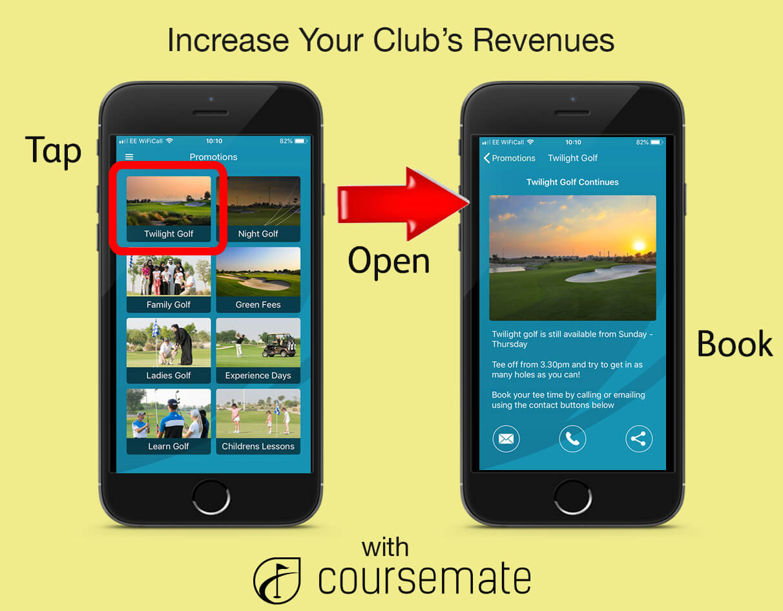 CourseMate Golf App Twilight Golf Promotion